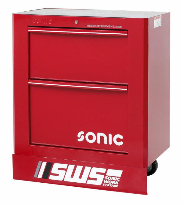 SONIC 47471 SWS 32`` gereedschapswagen met 2 laden rood-0