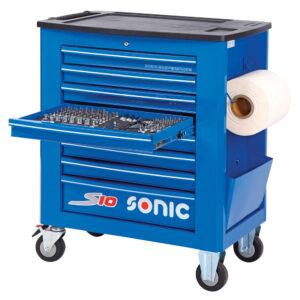 SONIC 742016 Gereedschapswagen S10 gevuld (420 delig) Blauw-0