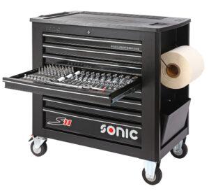 SONIC 740011 Gereedschapswagen S11 Gevuld (400 delig) Zwart-0
