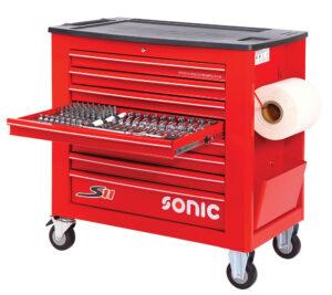 SONIC 740017 Gereedschapswagen S11 Gevuld (400 delig) Rood-0