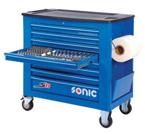 SONIC 740018 Gereedschapswagen S11 Gevuld (400 delig) Blauw-0