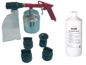 RODAC RC188NSET Zandstraalpistool + straalzand 700 gr RA188+ 4 Nozzles-0
