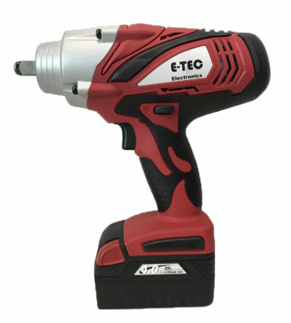 """E-TEC E-9650 Slagmoersleutel 1/2"""" - 20V Li-Ion-0"""