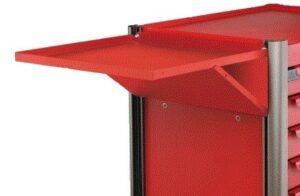 FORCE 102104R Zijtafel voor Practical gereedschapswagen Rood-0