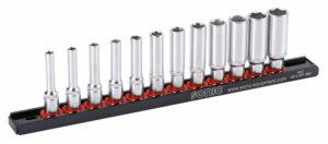 SONIC 101204 Doppenset 1/4'', lang 12-dlg. op rail-0