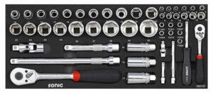 SONIC 305101 Doppenset 1/4'' + 1/2'' voor topbox 4730414 51-dlg.-0