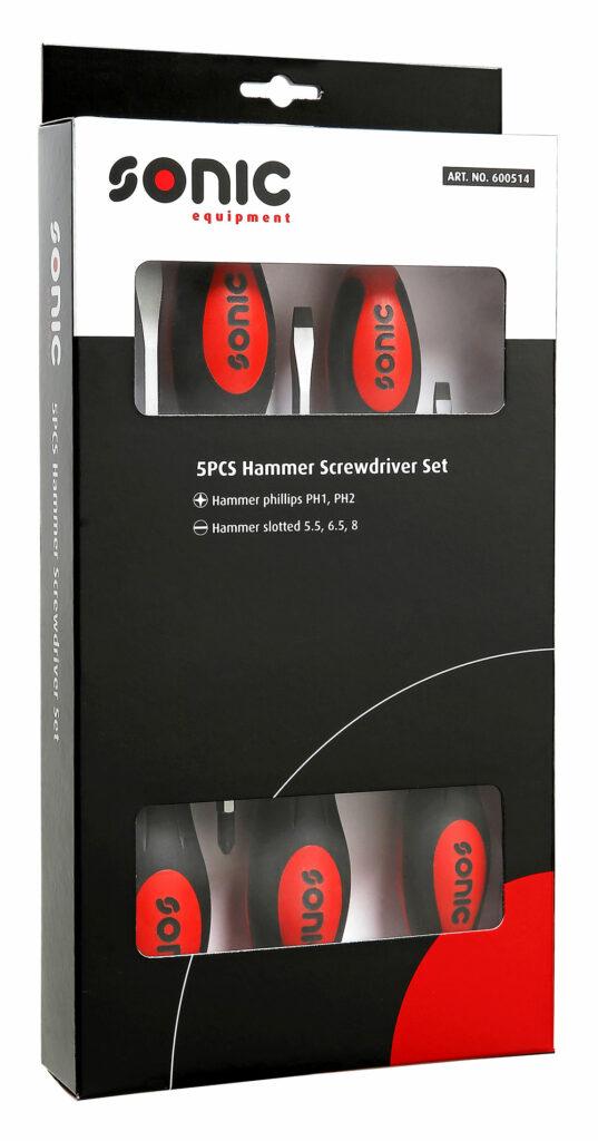 SONIC 600514 Slagvaste schroevendraaierset 5-dlg.-0