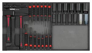 SONIC 603102 Beitel, hamer & krachtdoppenset 31-dlg. SFS-0