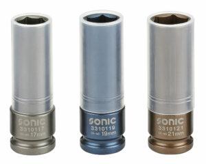 SONIC 300301 Doppenset 1/2'', voor wielmoeren 3-delig-0