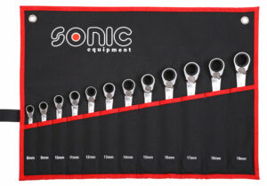 SONIC 601219 Ratelringsteeksleutelset 12-kant in etui 12-delig-0