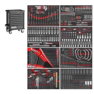 FORCE 10218M-512 Black Edition gereedschapwagen 512-delig-0