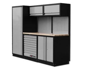 SONIC 728410 MSS 196 Cabinet gevuld met 285-dlg. gereedschapset-0