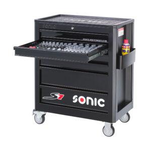 SONIC 715840 Gereedschapswagen S7 (158 delig)-0