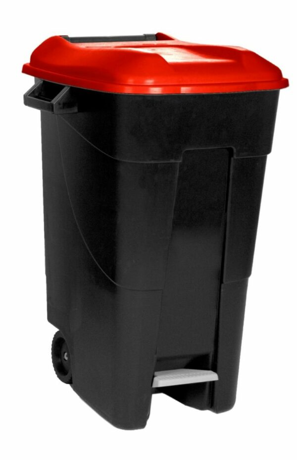 Afval container 120L met pedaal-0