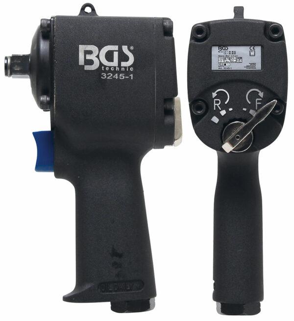 "BGS 3245-1 Pneumatische slagmoersleutel (1/2"") | 678 Nm | extra kort 98 mm-0"