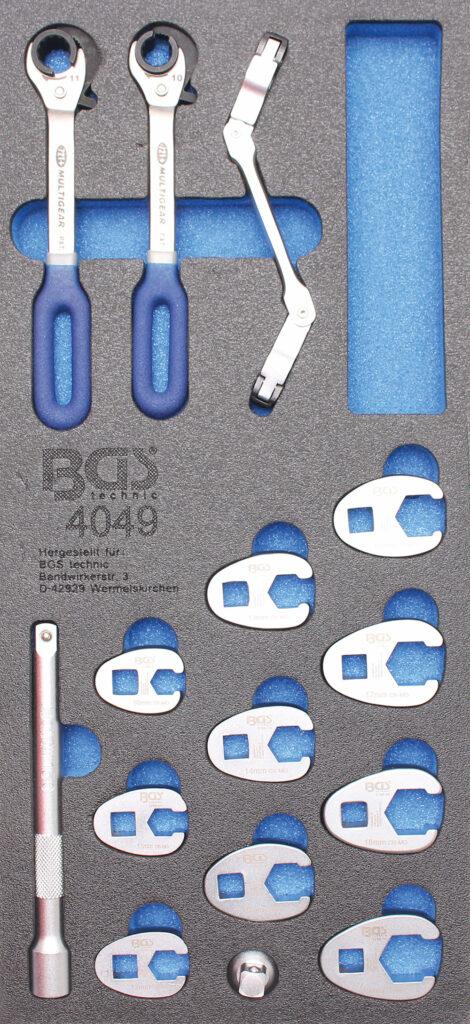 BGS 4049 Open ringsleutel en crowfoot set (15-delig)-0