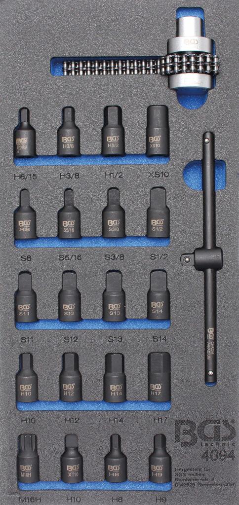 BGS 4094 Carterplug dopsleutel set (22-delig)-0