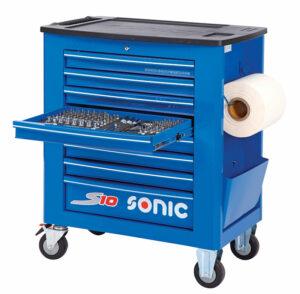 SONIC 726116 Gereedschapswagen S10 gevuld (261 delig) Blauw-0