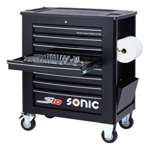 SONIC 726109 Gereedschapswagen S10 gevuld (261 delig) Zwart-0