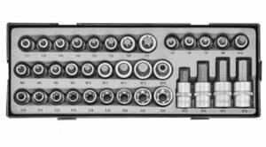 "FORCE T4355 1/2"" Doppenset Torx, Inbus, Veeltand 35-delig-0"