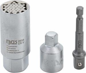 "BGS 92533 Multi-dopsleutel adapter-set | 10 mm (3/8"") | 9 - 21 mm | 3-delig-0"