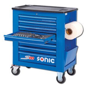 SONIC 733716 Gereedschapswagen S10 gevuld (337 delig) Blauw-0