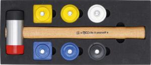 KRAFTMANN 52101 Hamerset met wisselkoppen | Ø 43 mm | 9-delig-0