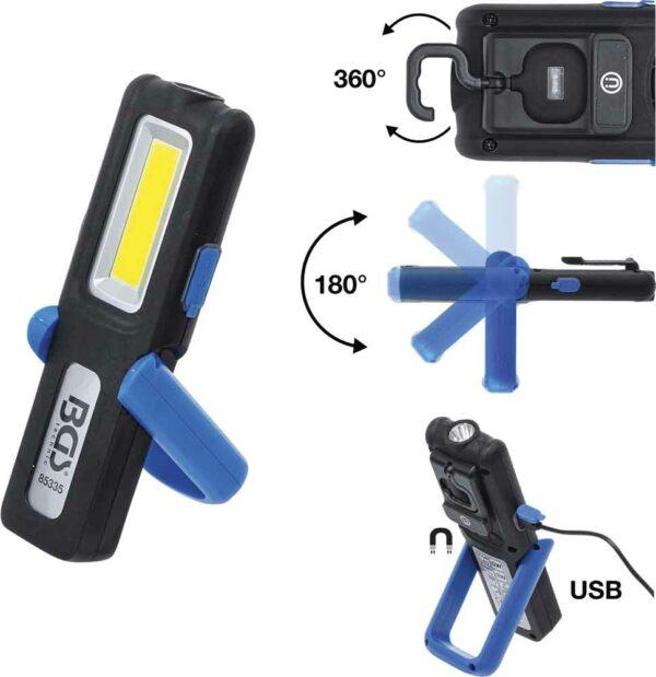 BGS 85335 Looplamp compact oplaadbaar | 5W | 360 lumen-0