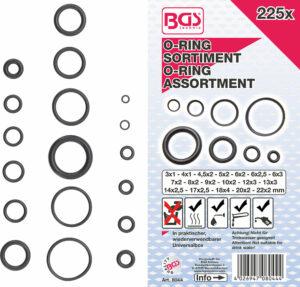 BGS 8044 O-ring-assortiment | Ø 3 - 22 mm | 225 -delig-0