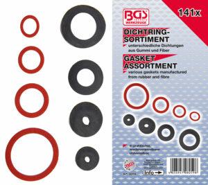 BGS 8059 Assortiment afsluitringen | rubber en fiber | 141-delig-0