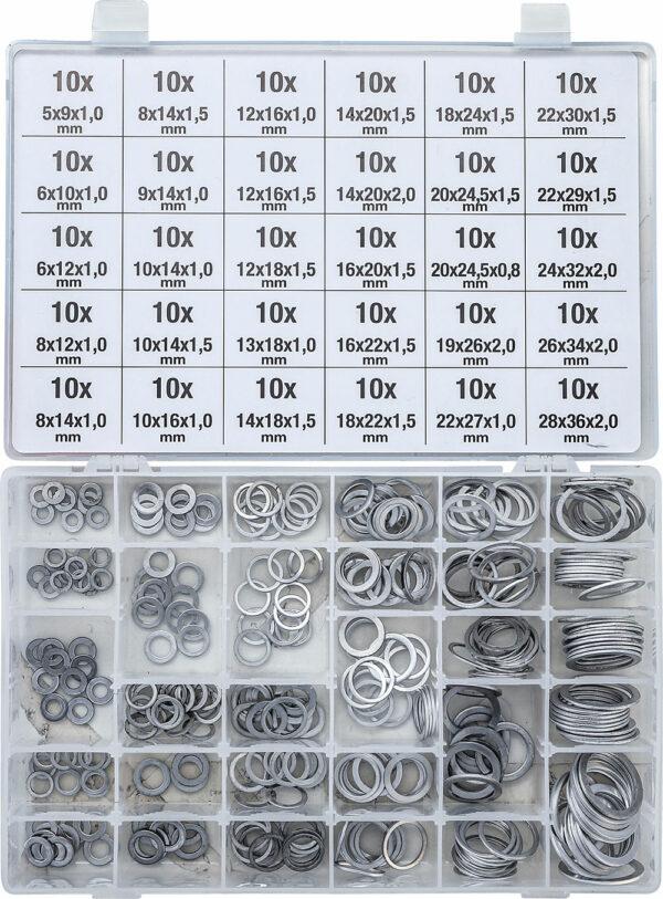 BGS 8143 Assortiment afdichtringen | aluminium | 300-delig-0