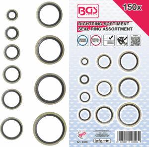 BGS 9306 Assortiment afdichtringen | metaal met rubber | 150-dlg-0