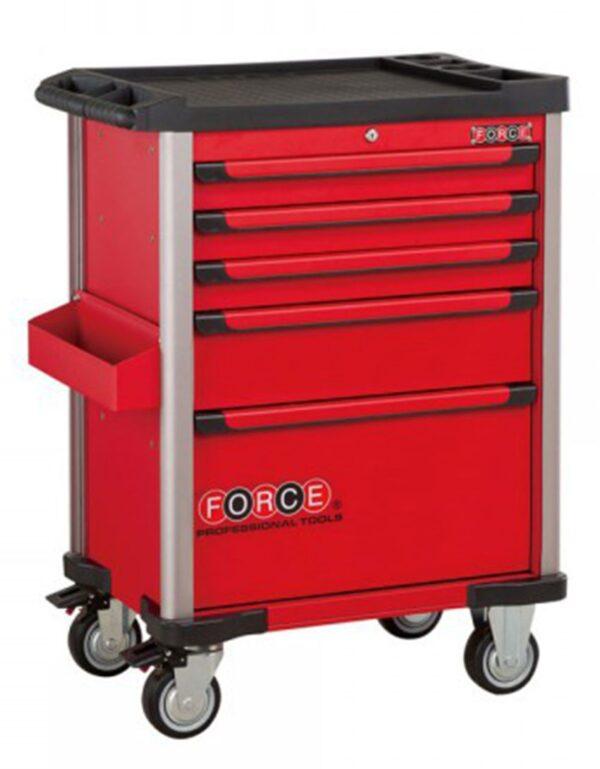 FORCE FC-10215R Gereedschapswagen | 5 laden | Rood-0