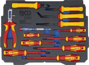 BGS 3352 Koffer inlegmodule voor Art. BOXSYS1 & 2: VDE-tangen-/ schroevendraaierset | 13-delig-0