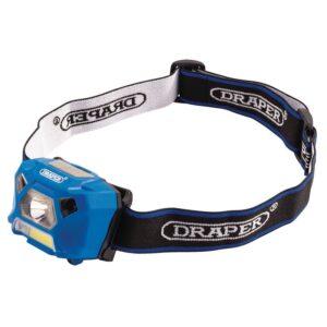 DRAPER D90067 Hoofdlamp COB LED | Oplaadbaar | 3W/200 lumen-0